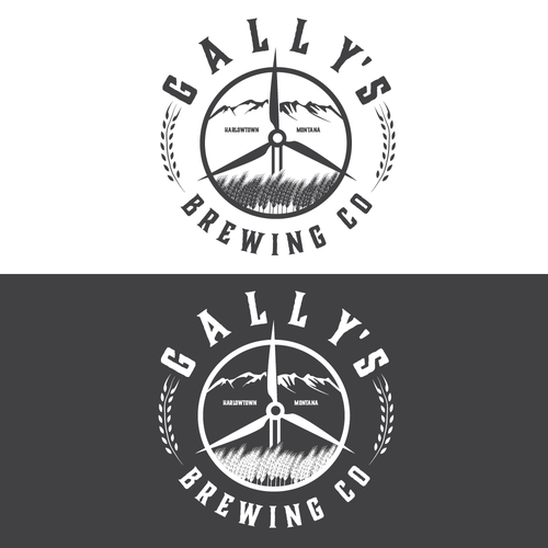 Breeze logo with the title 'Montana brewing company Gallys'