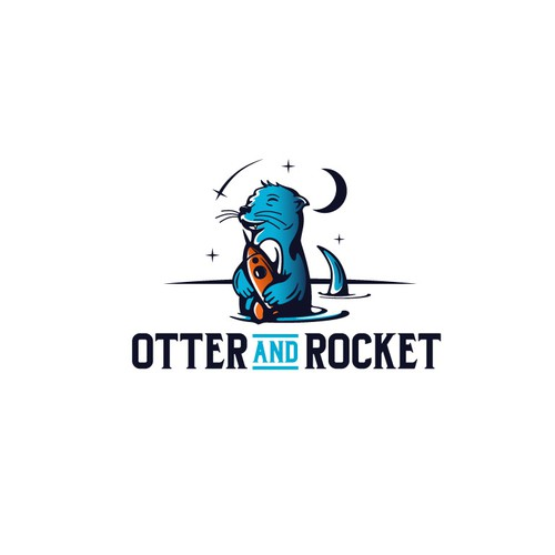 "Otter design with the title 'Logo design for ""Otter and Rocket""'"