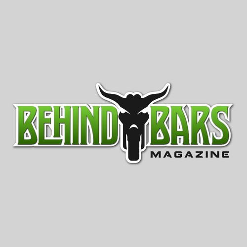Biker logo with the title 'Behind Bars Magazine needs a logo'