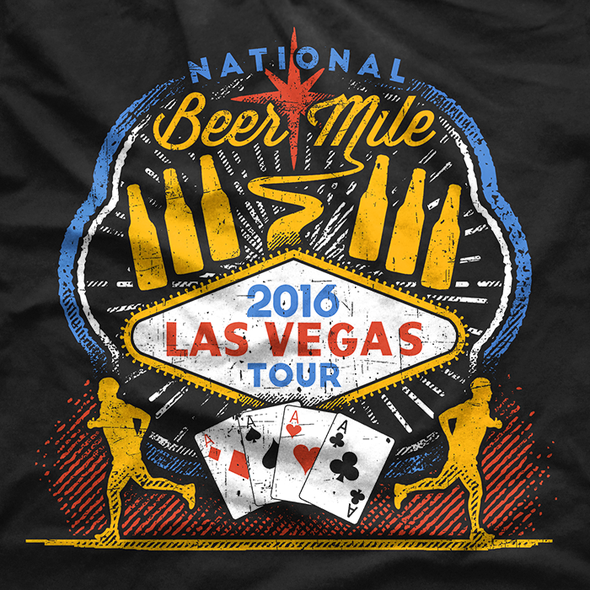 Event t-shirt with the title 'National Beer Mile Eveny T-Shirt '