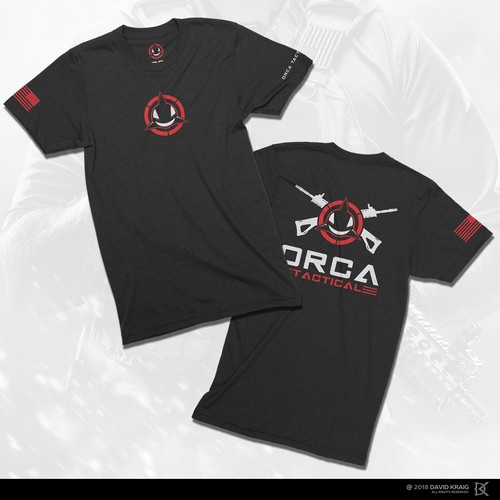 Gun t-shirt with the title 'ORCA TACTICAL'