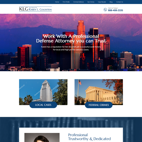 Attorney website with the title 'Attorney website revamp'