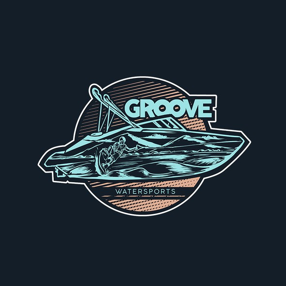 Awesome artwork with the title 'Groove Boat'