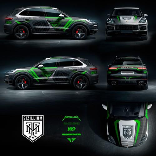 Wrap design with the title 'Porsche Cayenne Turbo 2018 Wrap'