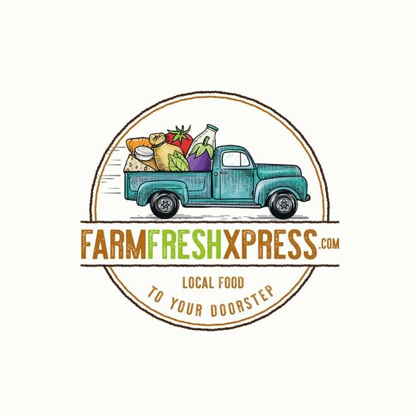 Logo with the title 'Farm Fresh Xpress'