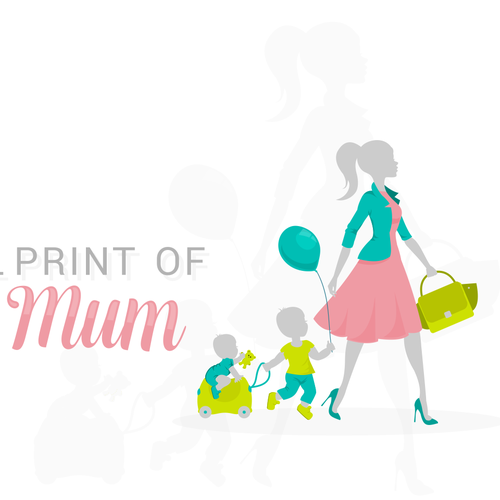 Mom design with the title 'The Small Print of Being a Mum'