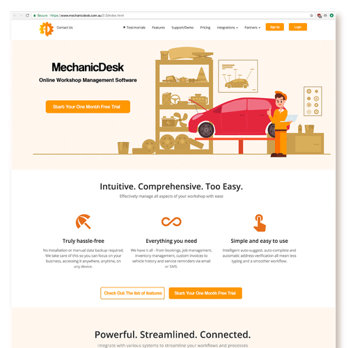 Mechanic design with the title 'New backdrop graphic required for new website'