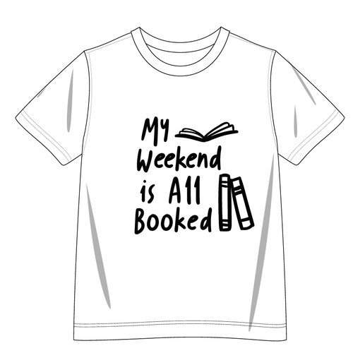 Slogan t-shirt with the title 'TSHIRT FOR BOOK LOVERS'
