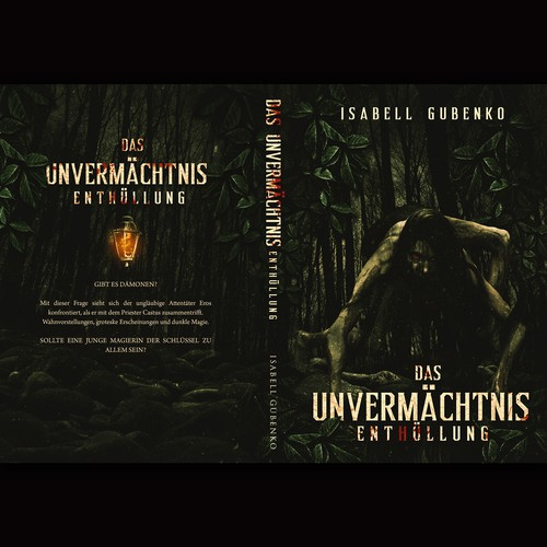 Horror book cover with the title 'Das Unvermachtnis Enthullung'