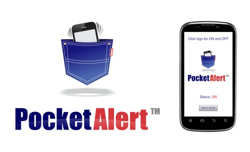 Alarm design with the title 'Winning design for Pocket Alert™'
