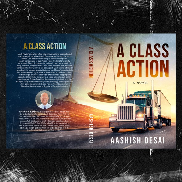 Justice design with the title 'A Class Action'