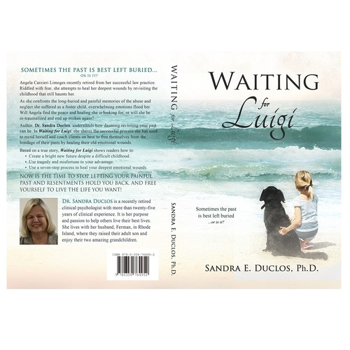 Beach book cover with the title 'Waiting for Luigi'