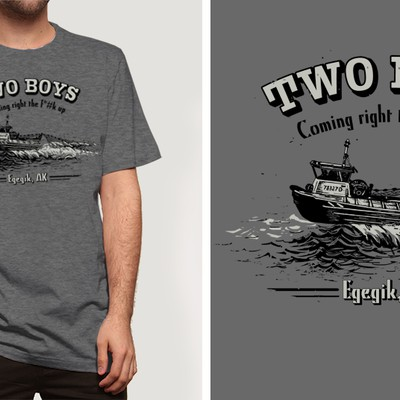 Promotional T-shirt Design for a Fishing business