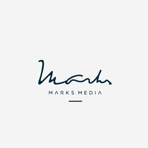 Fluid logo with the title 'Wordmark logo design for Marketing & Advertising company'
