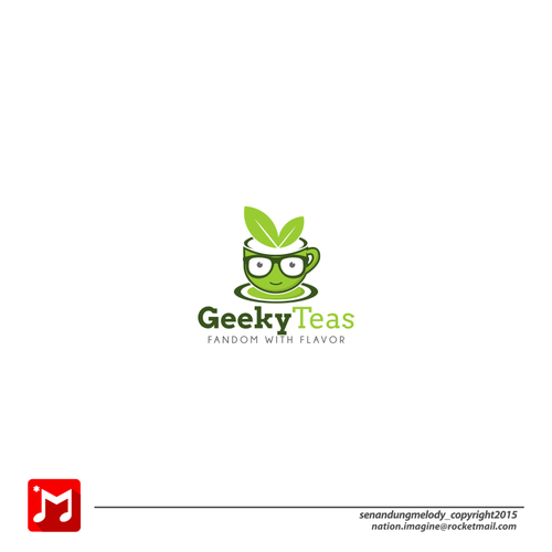Geek logo with the title 'geek tea '