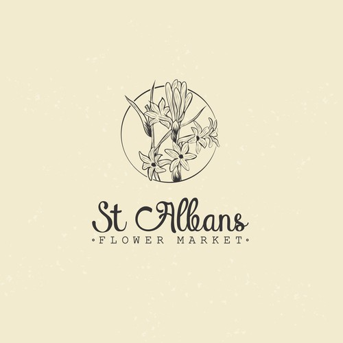 Arts logo with the title 'St Albans Flower Market Logo'