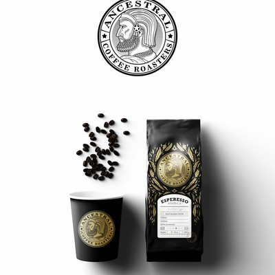 Ancestral coffee logo & packaging design