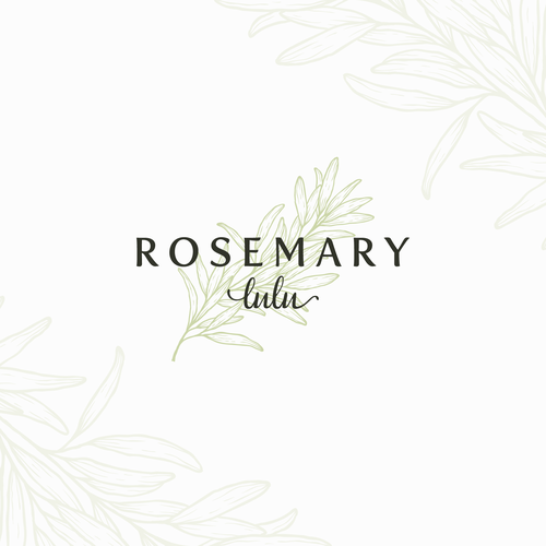 Herbal logo with the title 'Rosemary Lulu'