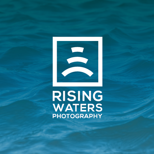 Rectangle design with the title 'Logo concept for Rising Waters Photography'