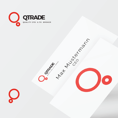 Trading logo with the title 'QTrade logo for trading company'