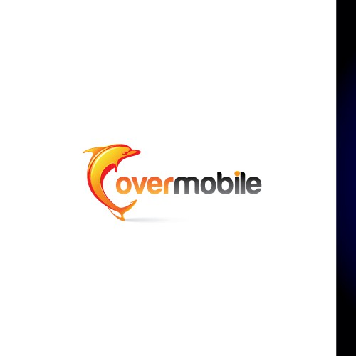 Dolphin logo with the title 'New logo wanted for Overmobile'