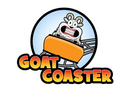 Mountain goat logo with the title 'Logo for a roller coaster'