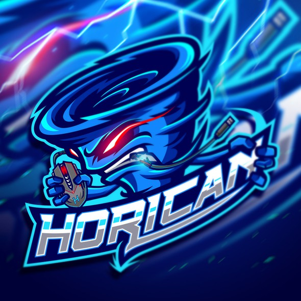Hurricane design with the title 'HORICAN'