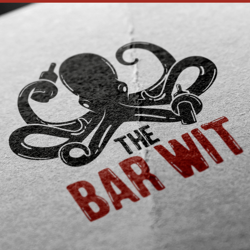 Octopus brand with the title 'Create a Pirate Logo for a Bartending Company!'
