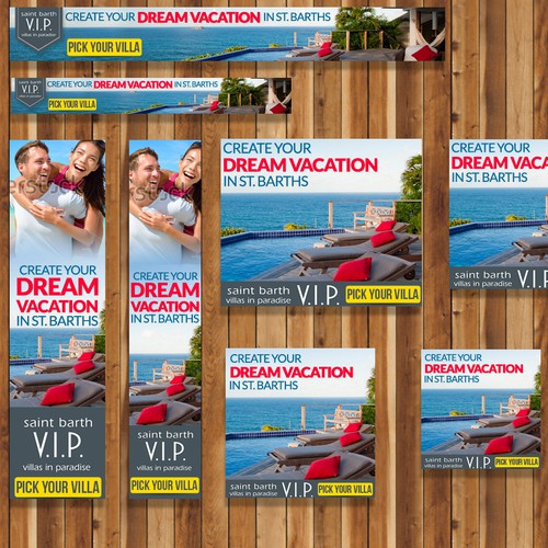 Paradise design with the title 'Dream Vacation'