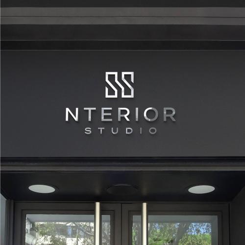 Silver logo with the title 'Nterier Studio'
