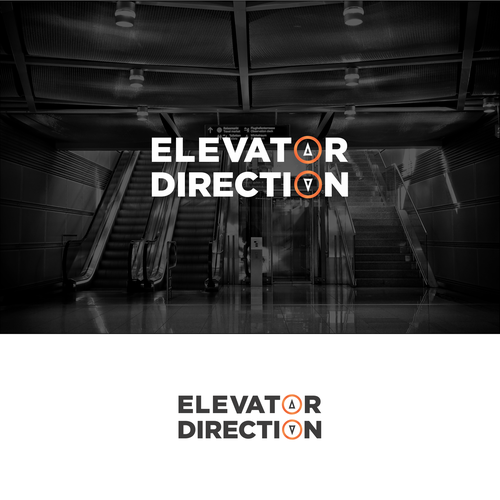 Elevator logo with the title 'Logo Concept for Elevator Company'