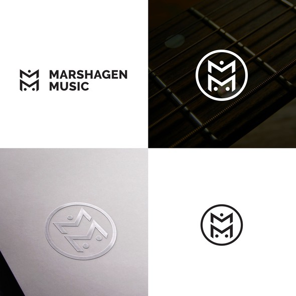 Acoustic logo with the title 'Logo for music production company.'