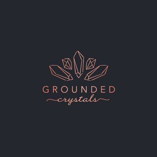 Whimsical brand with the title 'Modern yet Whimsical logo for Grounded Crystals'