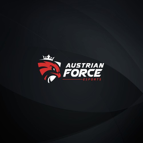 Esports design with the title 'Austrian Force Esports'