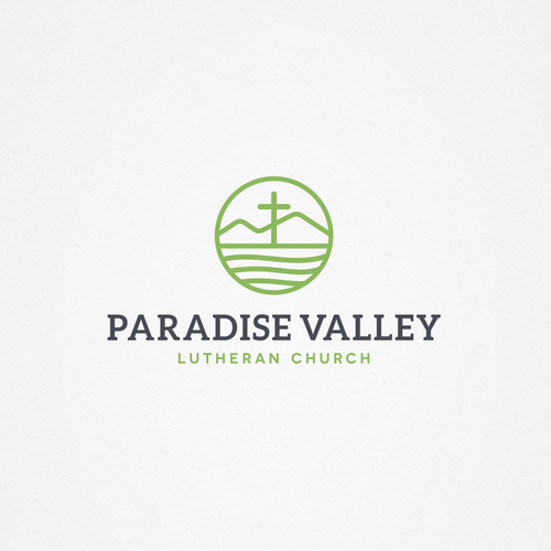 Cross design with the title 'Paradise Valley Lutheran Church'