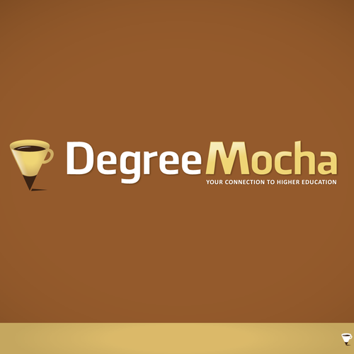 Fusion design with the title 'Create the next logo for Degree Java and / or Degree Mocha'