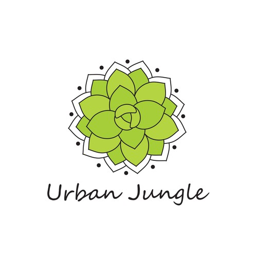 Succulent design with the title 'Urban Jungle'