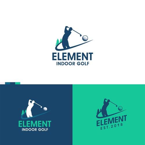Indoor design with the title 'Golf Indoor'