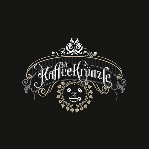 Coffee shop logo with the title 'Logo concept for Kaffee Kranzle'