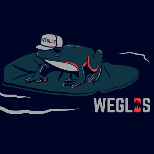 Green t-shirt with the title 'Winner design for WEGLOS'