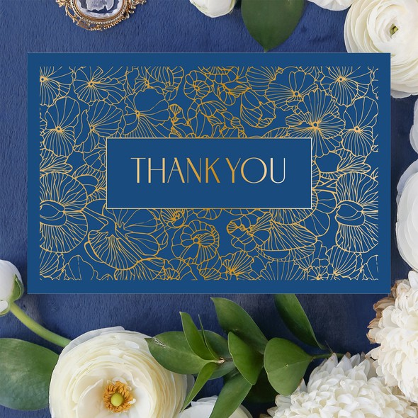 Thank you design with the title 'Thank you card'