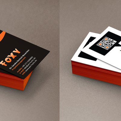Foxy Fox Business Card for business with serious contents presented in funny way