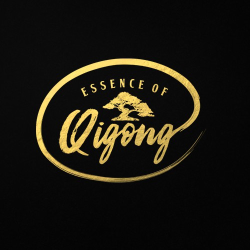 Black design with the title 'Hand drawn, brush style logo'