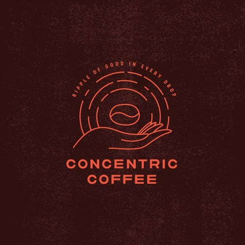Orange and brown design with the title 'Coffee Brand Logo'