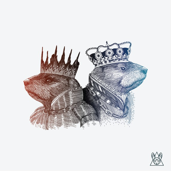 Complex design with the title 'Two Kings Illustration'