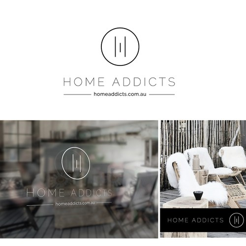 Nordic logo with the title 'Creating a quirky brand for 'home addicts' boutique fashionable homeware online store'