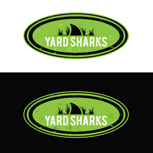 Yard design with the title 'YARD SHARK'