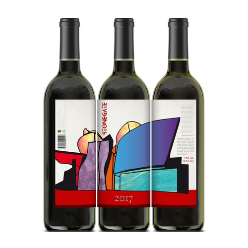 Wine bottle design with the title 'Stonegate'
