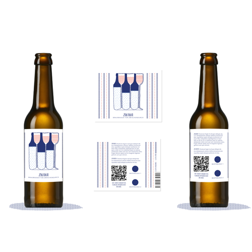 Illustrated label with the title 'Op-Art inspired design for a label'