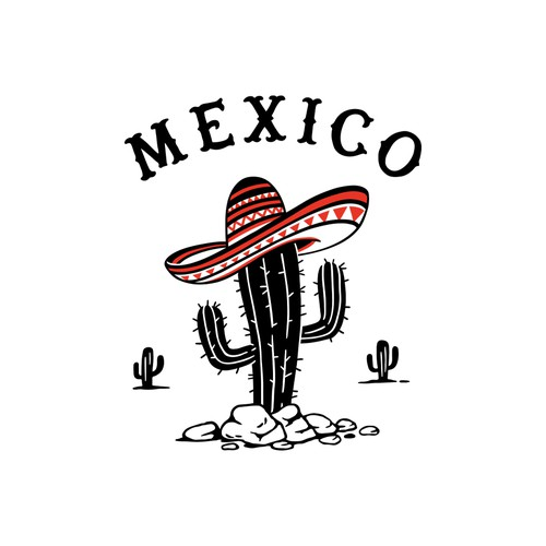 Plant illustration with the title 'Mexican Cactus'